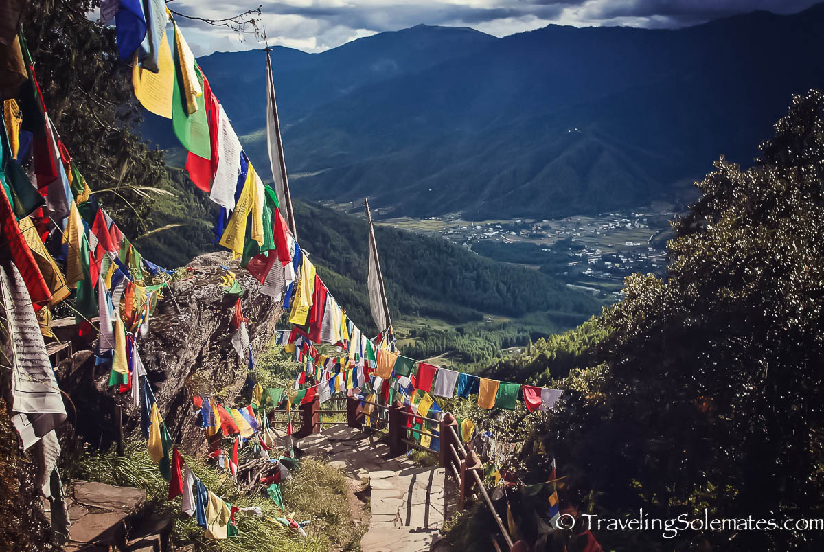 Prayer  Flags on Hiking Trail to Tiger's Nest Monastery, Paro, Bhutan