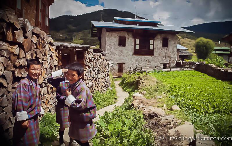 School children, Ura Valley, Bumthang, Bhutan
