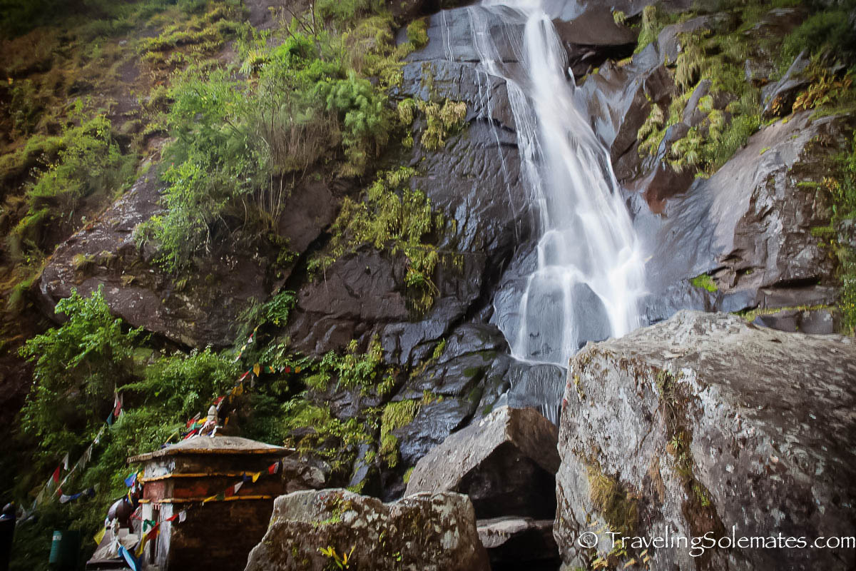 A waterfall on hiking trail to Tiger's Nest Monastery, Paro, Bhutan