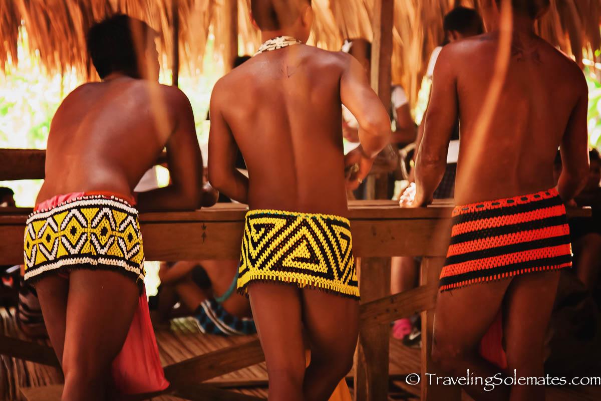 Embera Men, Embera Drua Village, Panama