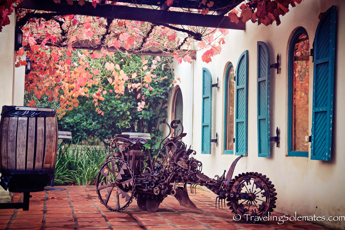 Art installation  at Fairview Estate Winery, Paarl, Cape Winelands, South Africa