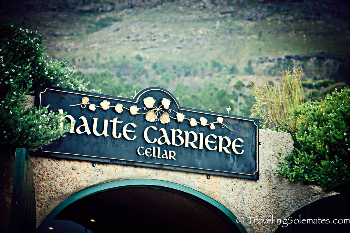 Wine Tasting at Haute Cabriere Cellar, Franschhoek, Winelands, South Africa