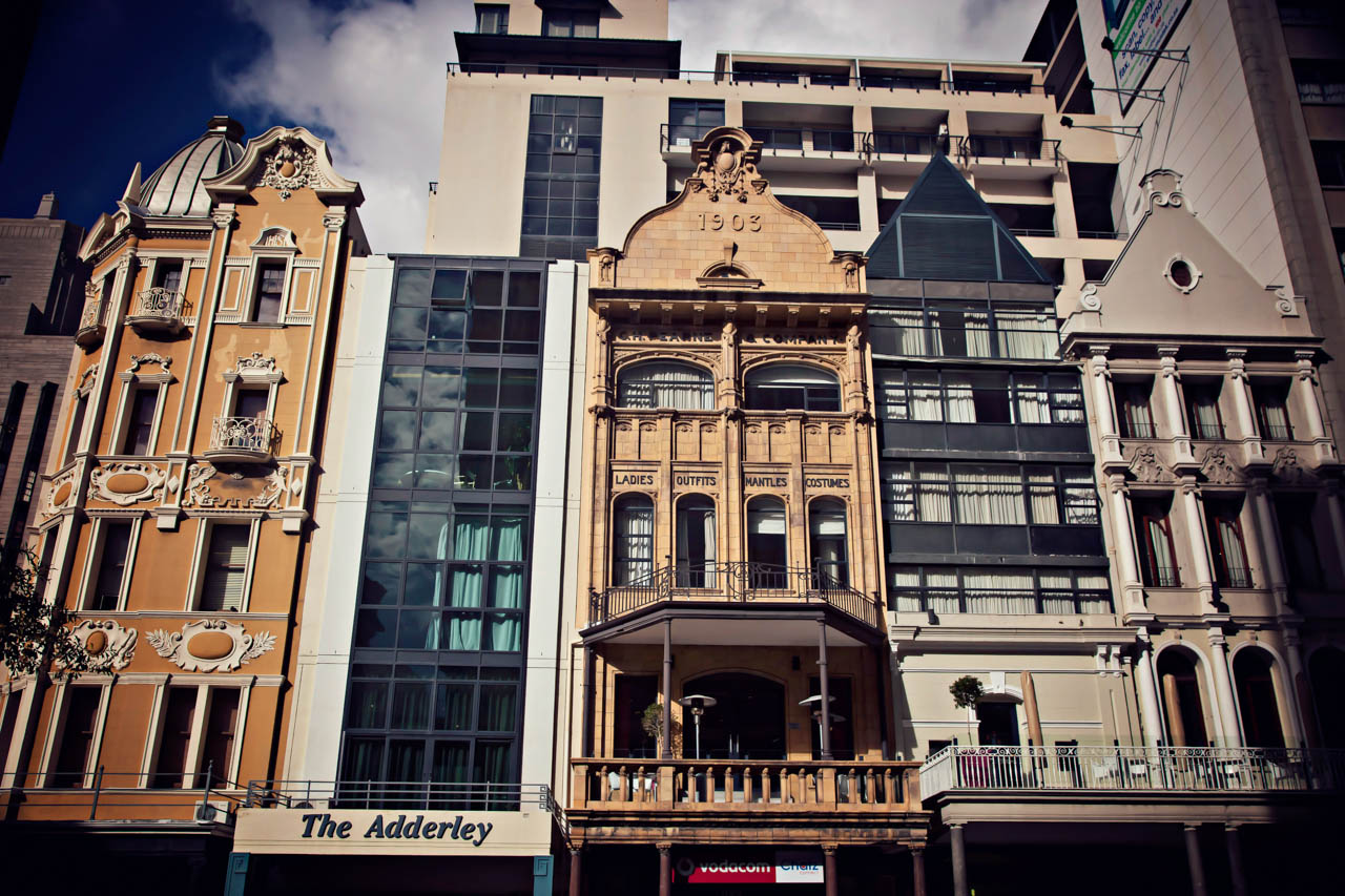 Architectures on Adderley Street, Cape Town, South Africa
