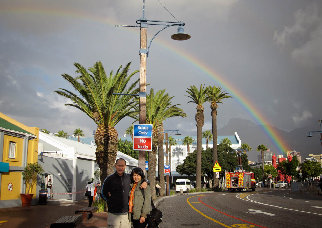 Rainbow in Cape Town, South Africa