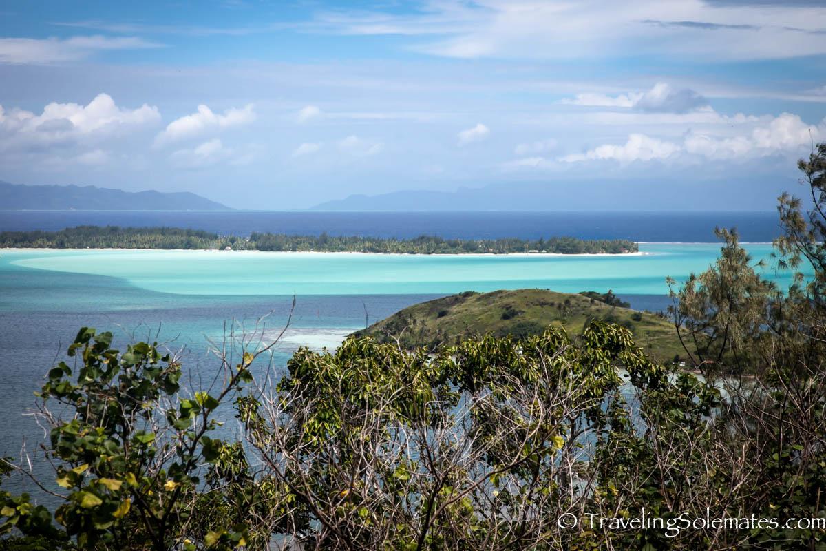 View of Lagoon from Mainland Bora Bora