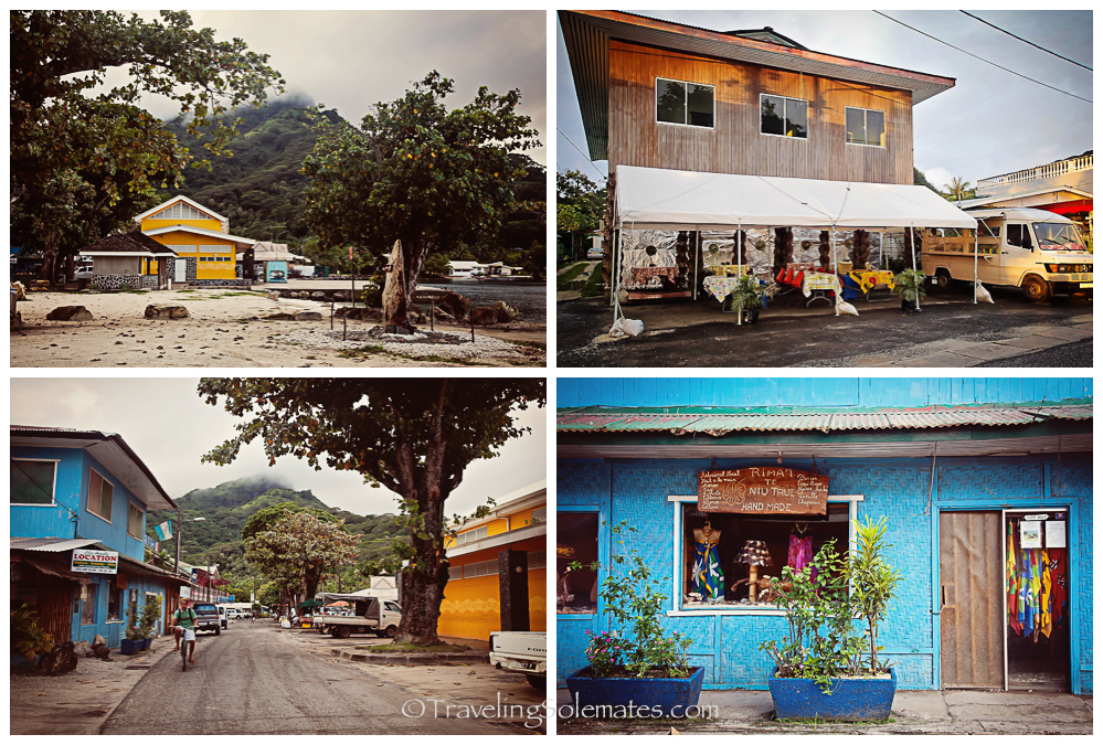 Town of Fare, Huahine, French Polynesia, South Pacific