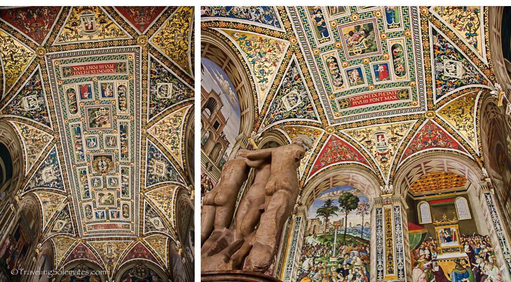Ceiling of Siena Duomo, Siena, Italy