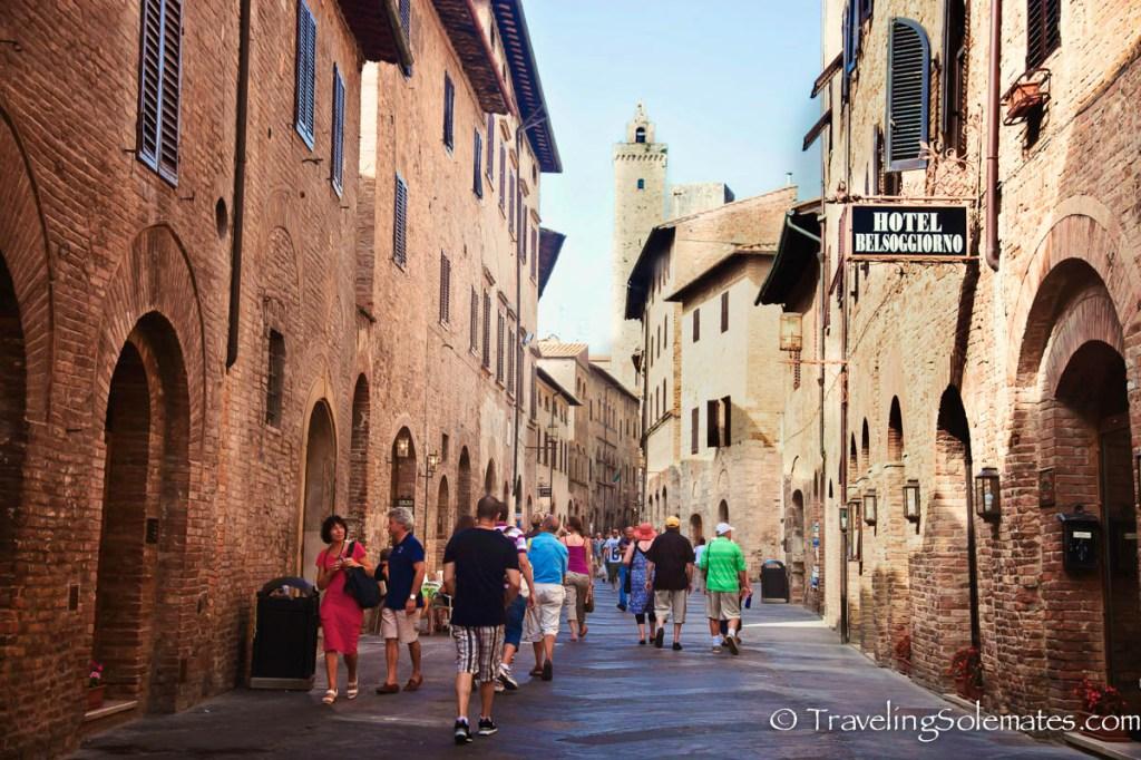 Street in San Gimignano, Tuscany, Italy