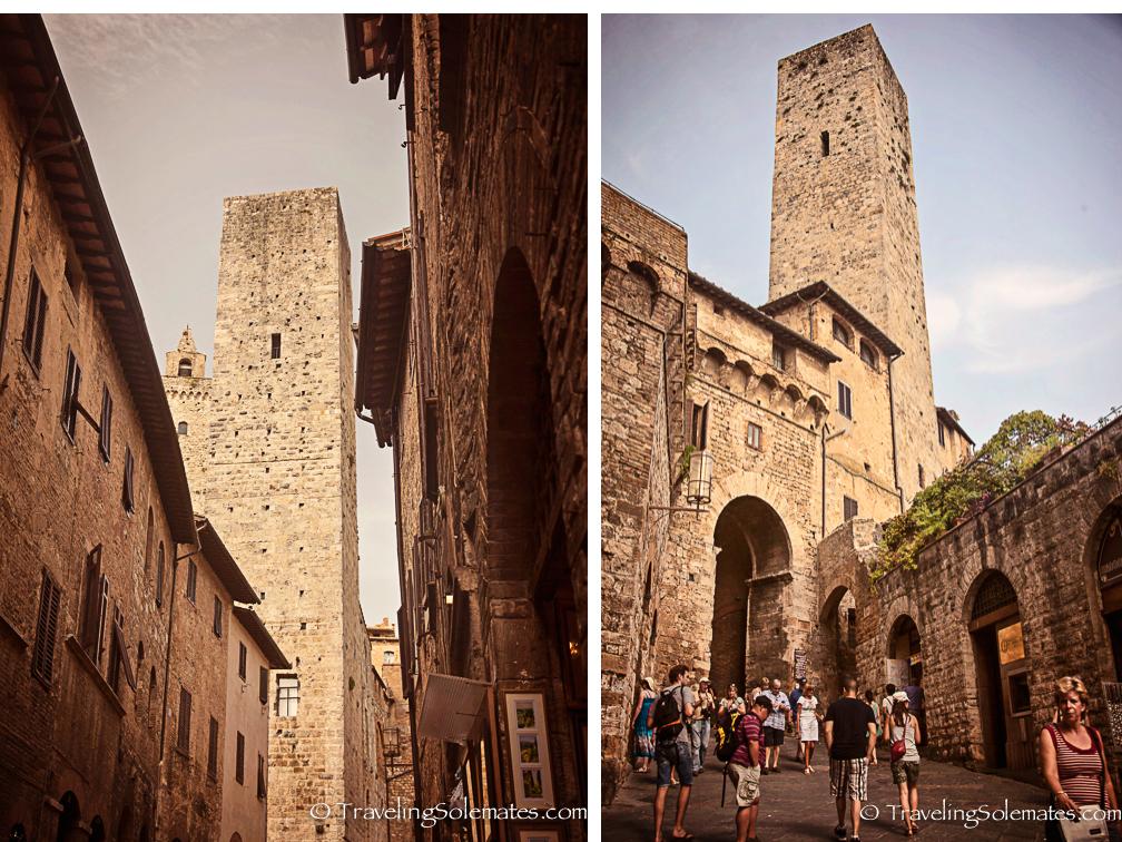 Towers in San Gimignano, Tuscany, Ital