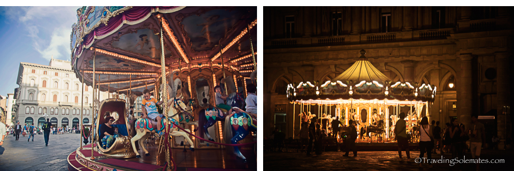 Carousel in Piazza Republica, Florence, Italy