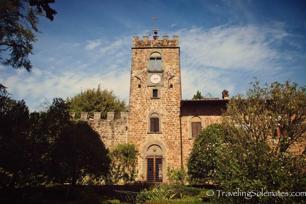 Medieval castle of Castello di Quesceto, Greve in Chianti, Tuscany, Italy
