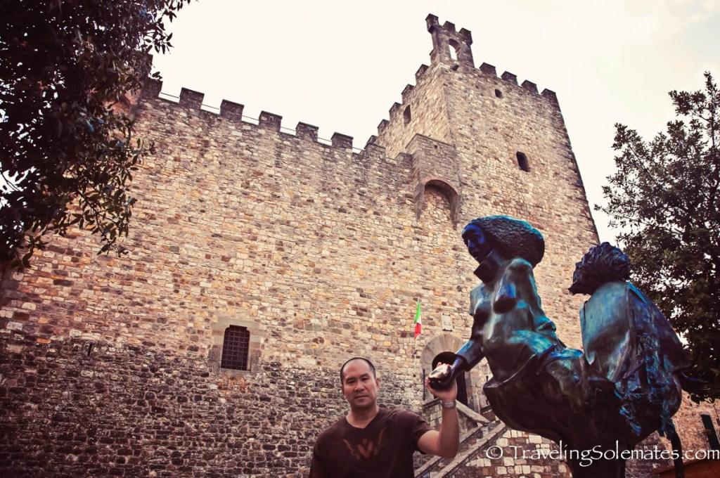 Fortress in Castellina in Chianti, Tuscany, Italy