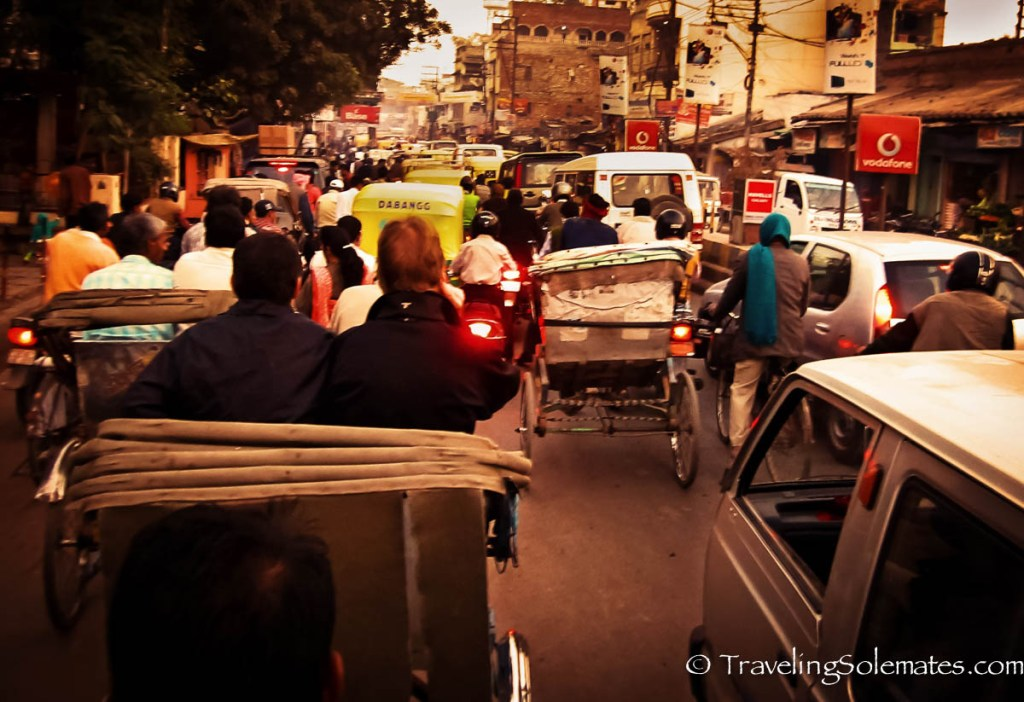 Rickshaw traffic in Varanasi, India