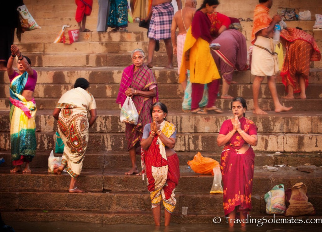 Women praying in Ganges River, Varanasi India