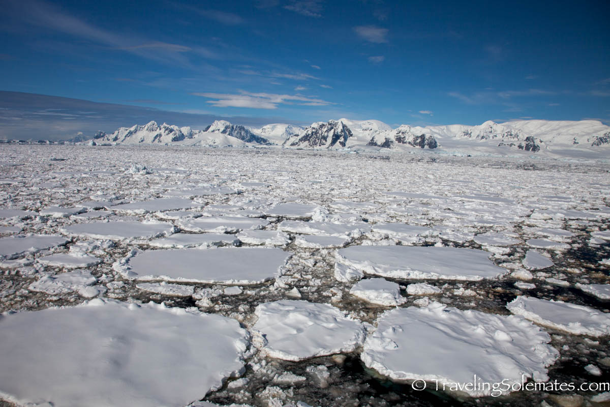 Ice field in The Lamaire Channel, Antarctica