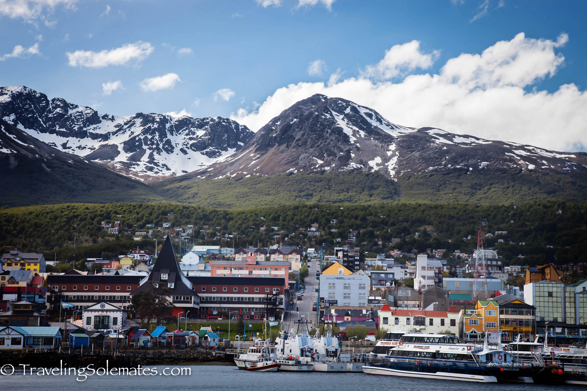 Sailing Away from Ushuaia, National Geographic Explorer, Antarctica Expedition