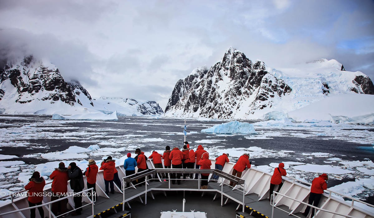 National Geographic Explorer entering Lamaire Channel, Antarctica