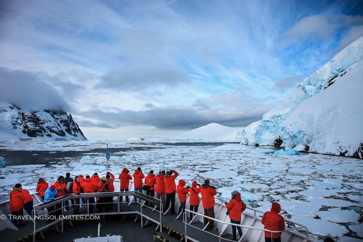 National Geographic Explorer on Lamaire Channel, Antarctica