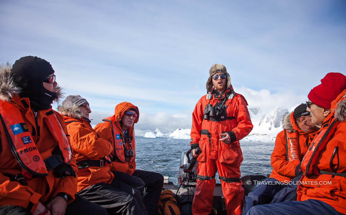 Zodiac Cruising in Cuverville, Antarctica, National Geographic Explorer Lindblad Expeditions
