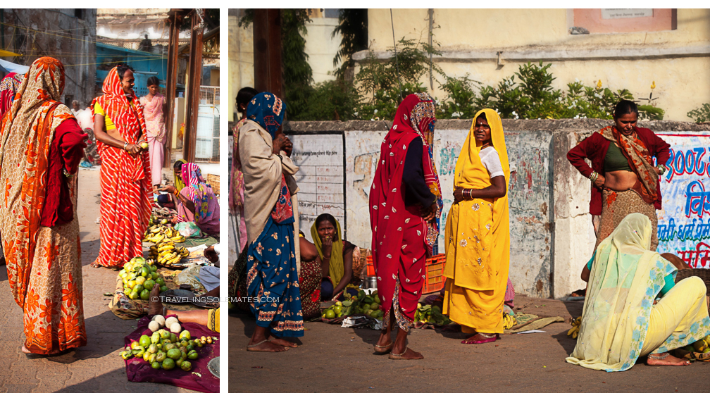 Women at the Market, Orchha, India