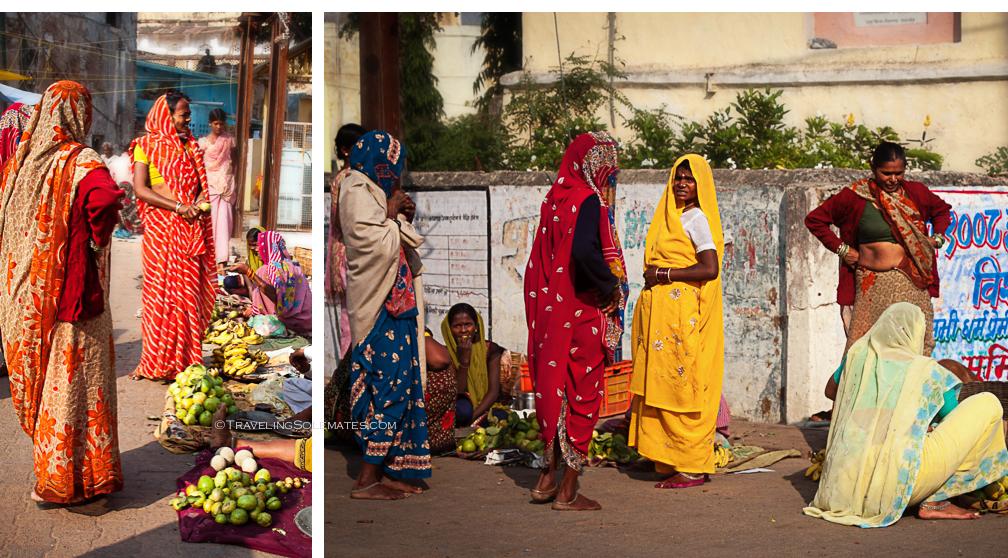 Women at the Market, Orchha, India