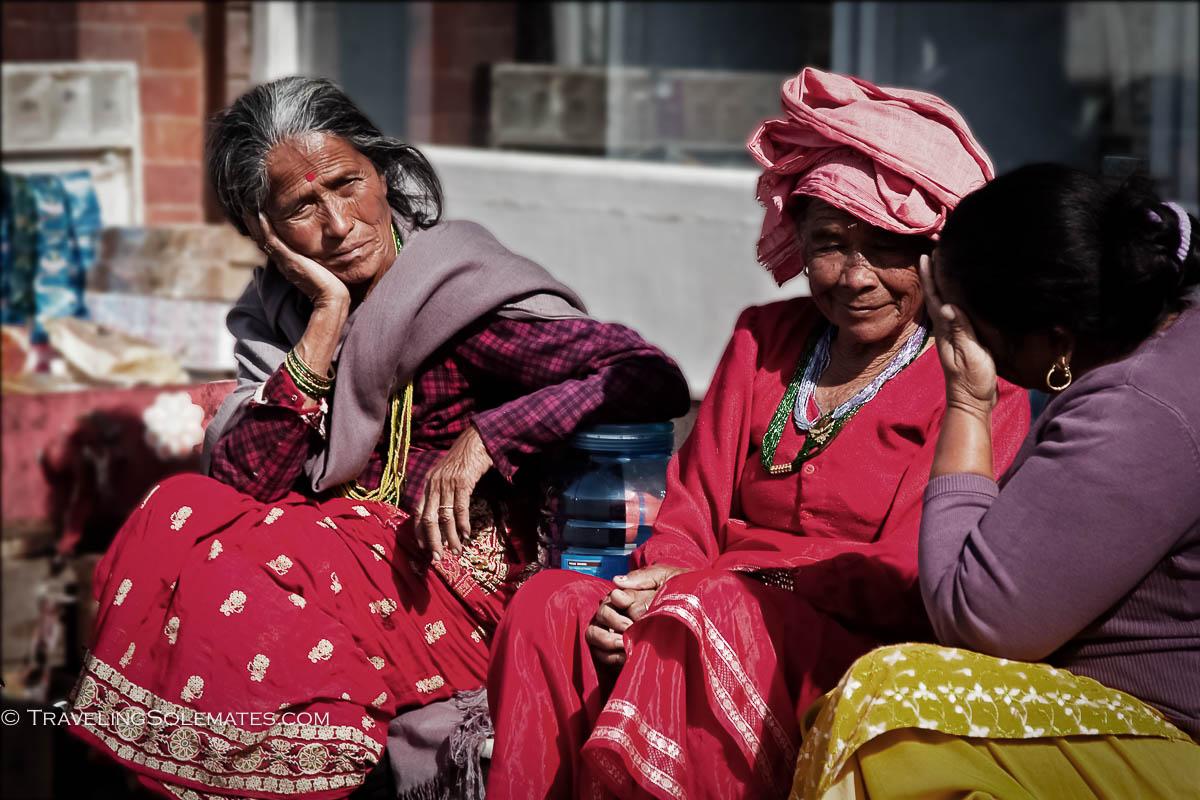 Women in Durbar Square, Kathmandu, Nepal