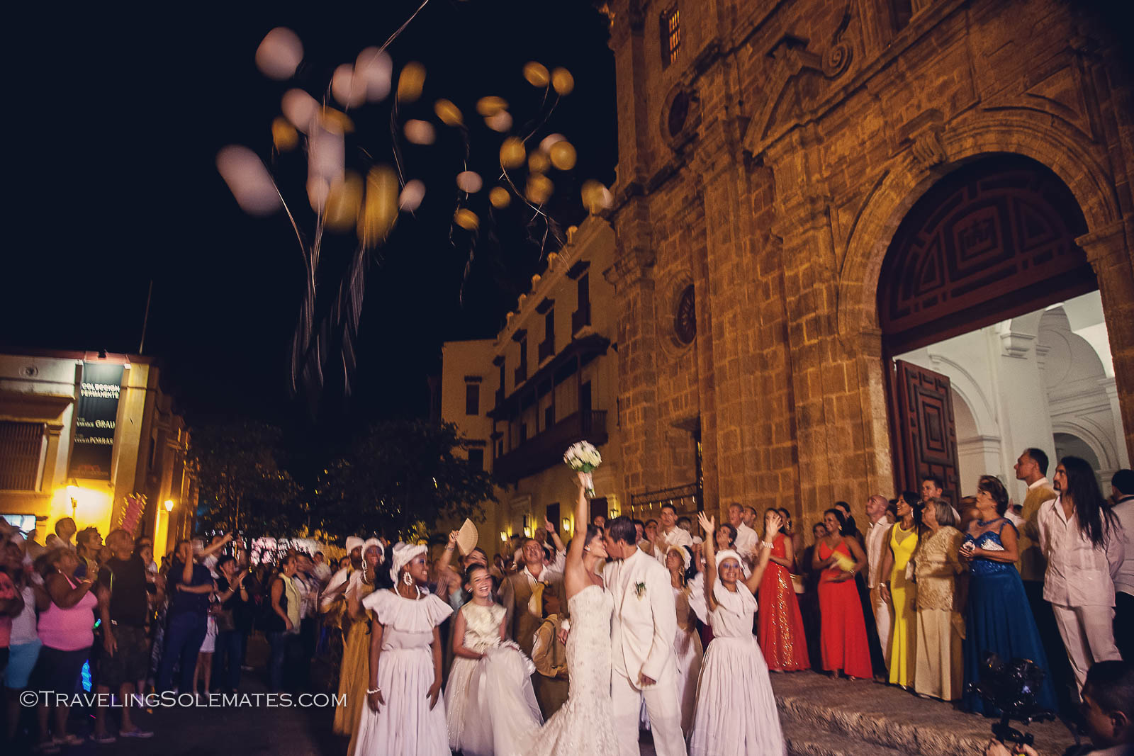 Wedding in San Pedro Claver Church, Old Cartagena, Colombia