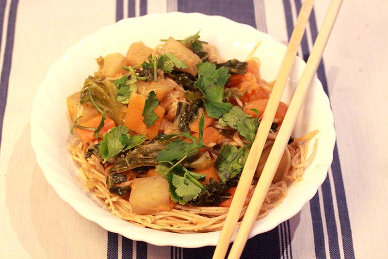 Thai Curry Veggie Stir-Fry