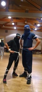 Mr. Roamer and I ready to steal the ninja treasure! ;) Actually, ready to dance.