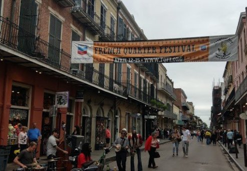 Royal Street in New Orleans.