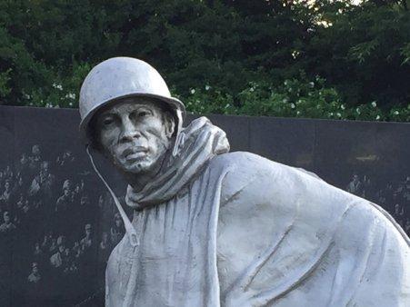 Korean War Memorial on the National Mall.