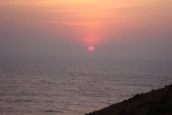 Sunset at Chapora Fort (Places to visit in Goa)