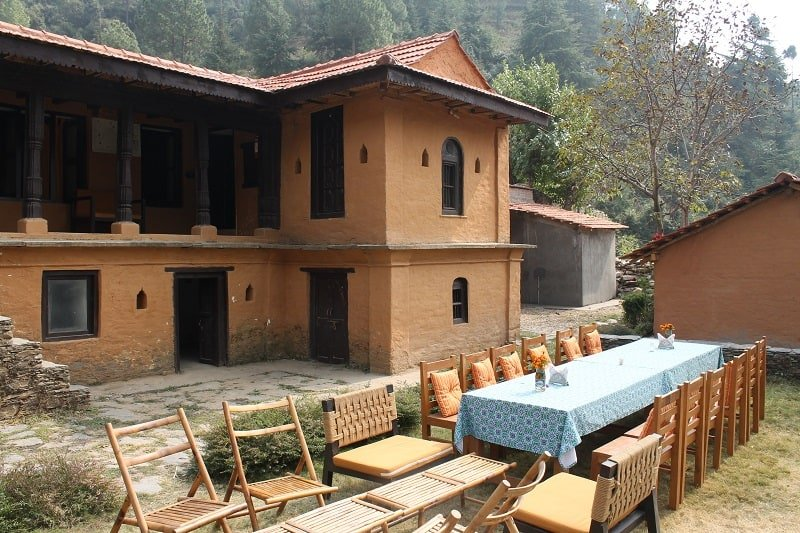homestay in saur village, the terraces kanatal