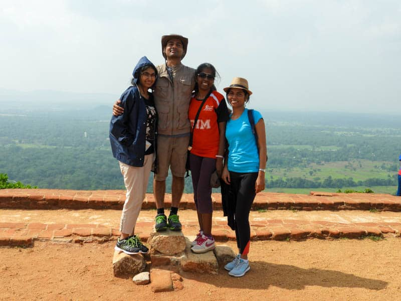 Top of sigiriya