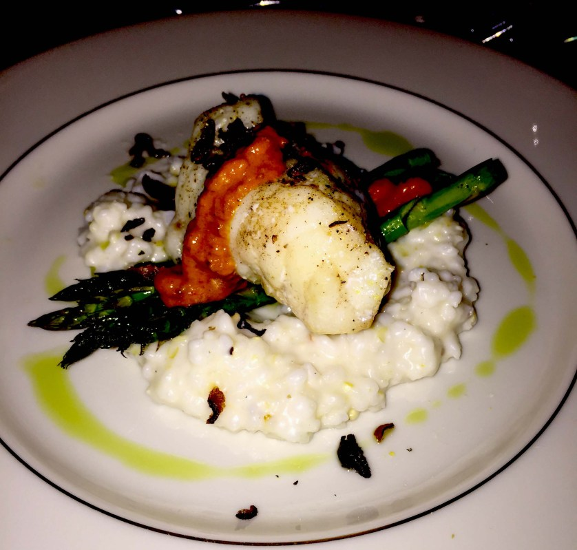 Chef Eisensmith of Six Plates in Durham outdid himself with this monkfish served at the Foggy Ridge Cider Dinner.