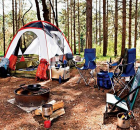 hiking and camping