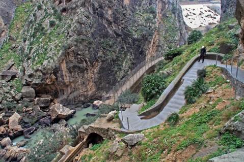 Unterwegs am gut ausgebauten Caminito del Rey ...