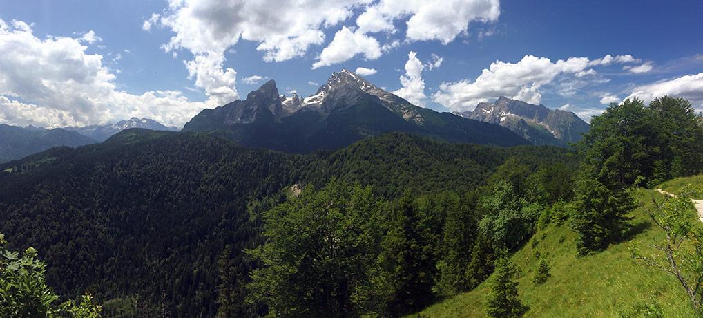 Wandern am Königssee in den Berchtesgadener Alpen
