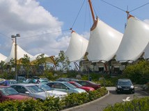 Stunning white tents of Ashford Designer Outlet