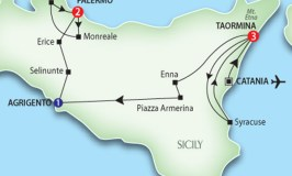 Tour Route of Sicily