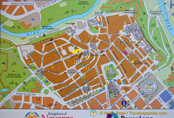 Map of Pamplona