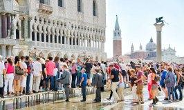 Acqua Alta floods Piazza San Marco…but the music plays on