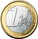 1 euro coin (front)