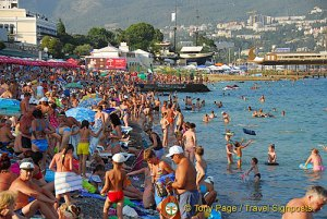 Sunbathing on Massandra Beach, Yalta