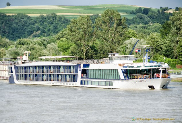 River Boat Amabella, note the balconies
