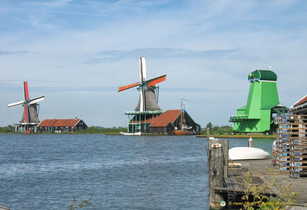 Zaanse Schans and its famous windmills