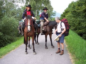 Via Francigena pilgrims - on horses!