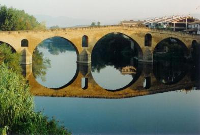 The Pilgrim Bridge at Puenta la Reina