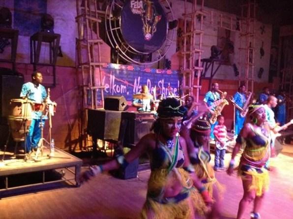 Cultural Display at New Afrika Shrine