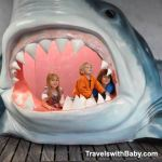 kids in the mouth of a shark...